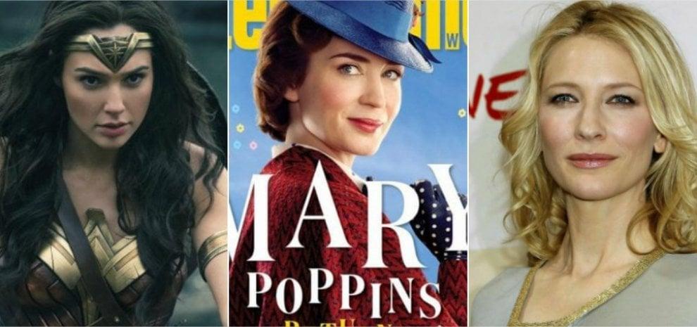 Wonder Woman, Mary Poppins e le altre: a Hollywood è l'anno delle donne