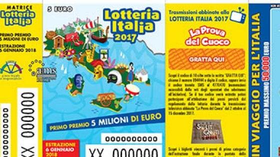 Lotteria Italia, i biglietti vincenti: ad Anagni il super premio da 5 milioni di euro