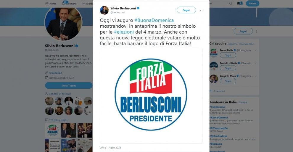 """Forza Italia presenta il logo per le politiche: c'è """"Berlusconi presidente"""""""