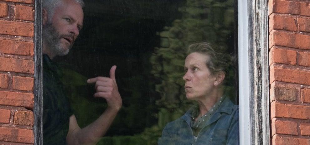 """'Tre manifesti', McDonagh: """"Un film politico perché ha per protagonista una donna"""""""