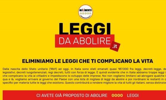 """M5s, Di Maio: """"Ridurre la burocrazia, aboliremo 400 leggi"""". E lancia un sito ad hoc aperto a tutti"""