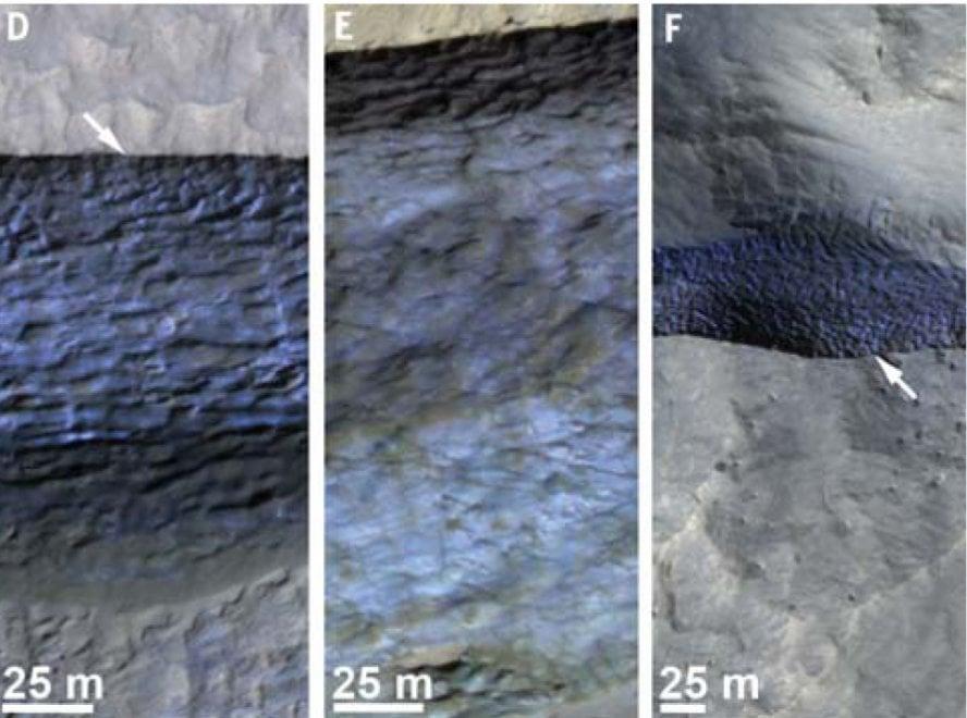 Marte, le 'miniere' di ghiaccio fotografate dalla sonda Nasa