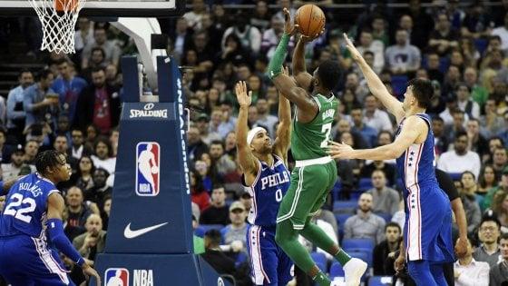 Basket Nba: Boston ok a Londra. Altra batosta per Cleveland