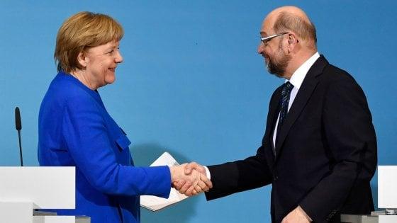 """Accordo per Grosse-Koalition fa volare l'euro. Gentiloni: """"Buona notizia per l'Europa"""""""