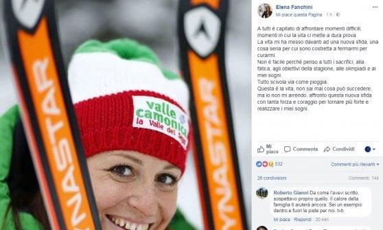Sci, il dramma di Elena Fanchini: ''Ho un tumore, ma tornerò più forte di prima''