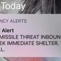 """Hawaii, messaggio scatena allarme missile dalla Corea. Le autorità: """"Inviato per errore"""""""