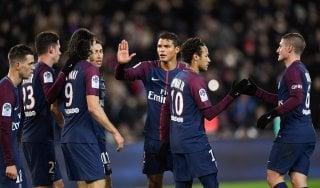 Francia, Psg a valanga: Dijon travolto 8-0. Cavani eguaglia Ibra