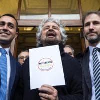 """Elezioni, Grillo: """"Alleanze con chi ci sta? Come se un panda mangiasse carne cruda"""""""