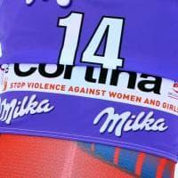 Sci, Cortina: atlete in pista con il pettorale contro la violenza sulle donne