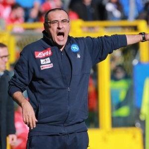 """Napoli, Sarri attacca la Lega: """"In campo sempre dopo la Juve, grave errore. Insigne? Tutto ok"""""""