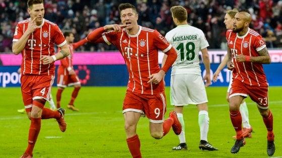 Germania, Bayern senza ostacoli: il Werder lotta ma è 4-2