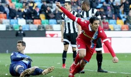Floccari risponde a Samir Udinese-Spal, giusto il pareggio