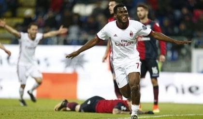 Il Milan passa a Cagliari Kessie firma la rimonta