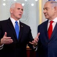 "Pence: ""Un onore essere a Gerusalemme, capitale d'Israele"". Abu Mazen a Bruxelles: ""L'Ue..."