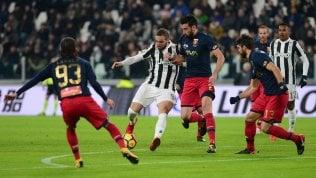 Diretta Juve-Genoa 1-0La Roma cede Dzeko a Chelsea.Sanchez dall'Arsenal al M. United