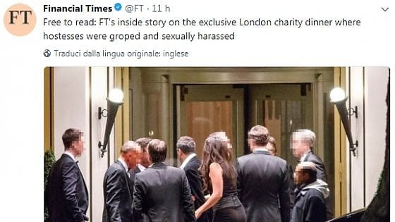 Londra, il party di beneficenza è un baccanale: per le hostess abiti succinti e molestie. E il club chiude