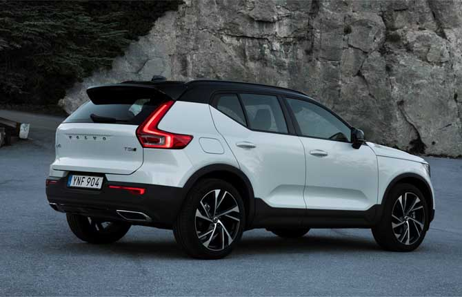 volvo xc 40 la cina vicina. Black Bedroom Furniture Sets. Home Design Ideas