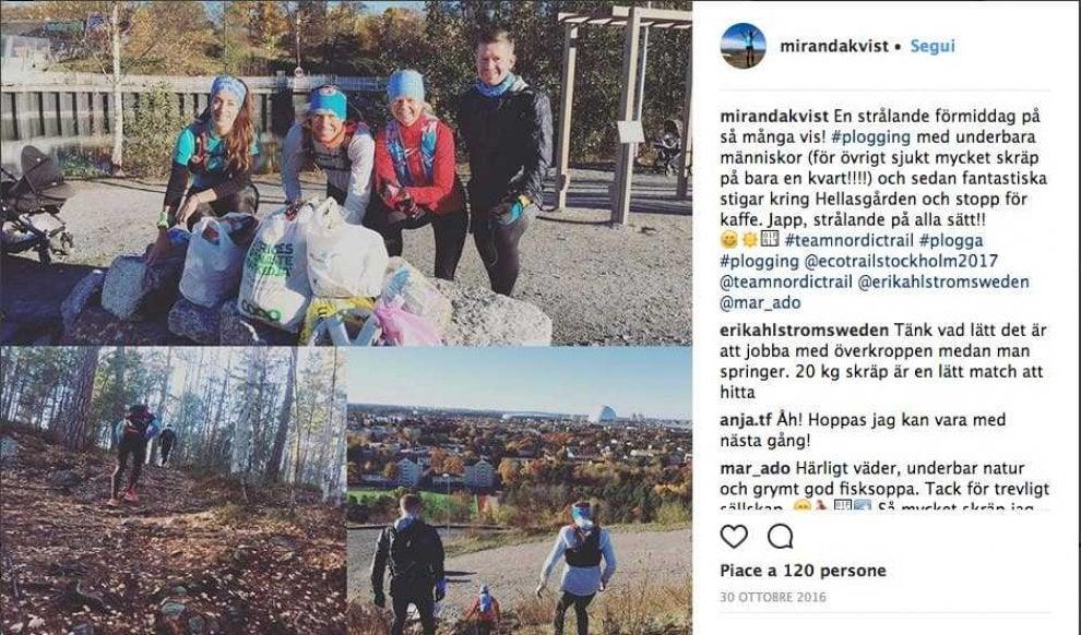 Plogging, in Svezia corri raccogliendo la spazzatura
