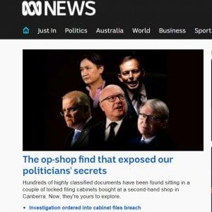 Australia, decine di segreti di Stato ritrovati in un mobile venduto all'asta