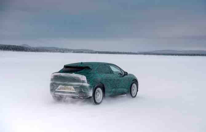 Jaguar  I-PACE, test sotto lo zero