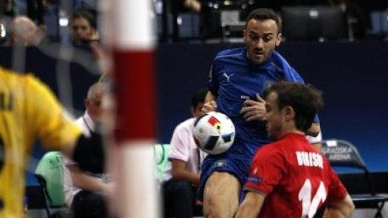 Calcio a 5, Europei: l'Italia pareggia con la Serbia all'esordio