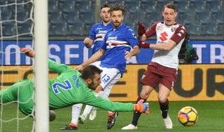 Sampdoria-Torino 1-1: Acquah risponde a Torreira, poi Belotti spreca