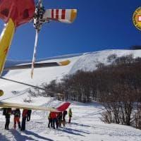 La valanga vicino a Campo Felice nelle foto del soccorso alpino