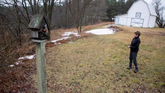 Maryann Borden, una cittadina di Osceola Township, nella sua casa vicino al Twin Creek