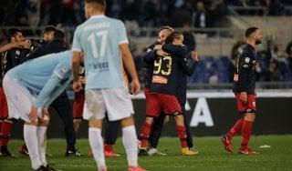 Lazio-Genoa 1-2, Laxalt beffa i biancocelesti al 92'