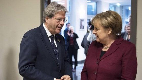 Germania, rinviato incontro Gentiloni-Merkel per governo Berlino