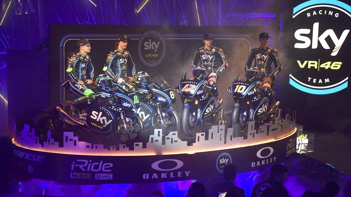 Moto, svelato il team Sky VR46: ''Tanto talento per puntare in alto''