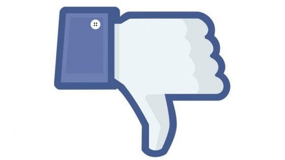"""Facebook sperimenta il 'Non mi piace'. """"Ci aiuterà a individuare i commenti sgraditi"""""""