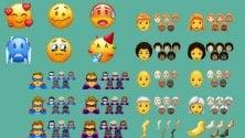 Freddolosa, accaldata e festaiola, le nuove emoji
