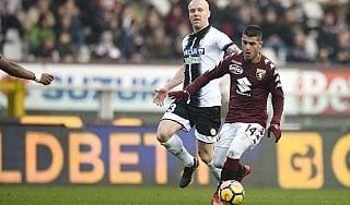 Le pagelle di Torino-Udinese: Falque da Nazionale, Behrami in difficoltà