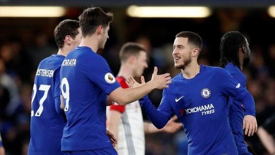 Inghilterra, Hazard e Moses rialzano il Chelsea: il tris al Wba vale il quarto posto