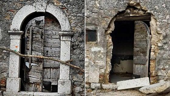 """Rubano arco dell'800 nel borgo antico, il sindaco: """"Spero che vi caschi in testa"""""""