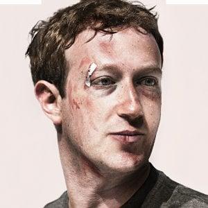 Cerotti e lividi per Zuckerberg: la crisi di Facebook sulla cover di Wired