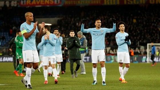 Champions, Basilea-Manchester City 0-4: passeggiata per gli inglesi