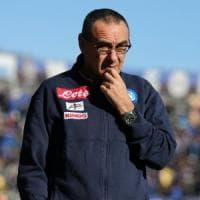 Napoli, Sarri: ''Europa League folle e la Lega non ci aiuta''