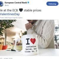 Il tweet della Bce per San Valentino: