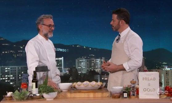 """Bottura al Jimmy Kimmel Show: """"Vi insegno a non sprecare il cibo"""""""