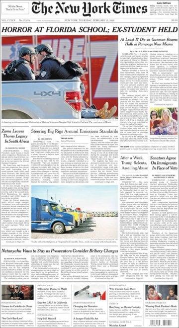 Strage in Florida, la notizia sulle prime pagine dei quotidiani internazionali