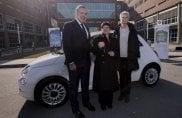 """Lotteria """"Ricerca la Fortuna"""": consegnata a Candiolo la Fiat 500C a una vincitrice speciale"""