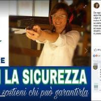 Lega, manifesto con la pistola per la candidata in Veneto