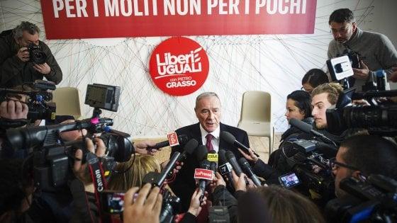 Liberi e Uguali, Grasso e Boldrini spaccati sul M5s