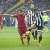Udinese-Roma 0-2, Under colpisce ancora