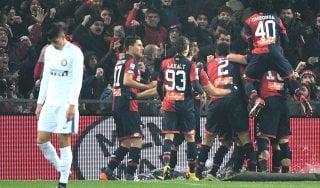 Genoa-Inter 2-0: dominano i rossoblù, i nerazzuri perdono il terzo posto