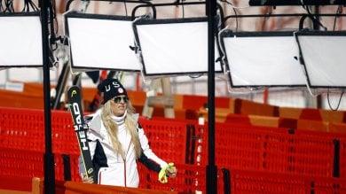 Lindsey Vonn ricorda il nonno sparse le ceneri sulla pista da sci