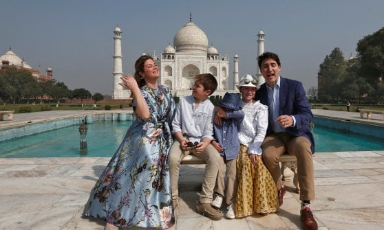 Il premier canadese Trudeau in India: foto in posa ma il governo lo 'snobba'