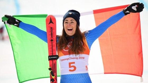 PyeongChang 2018, sci: Goggia da urlo, è oro nella discesa libera. ''Sono stata una samurai''